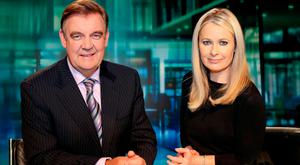 Different roles: Bryan Dobson and Sharon Ni Bheolain.