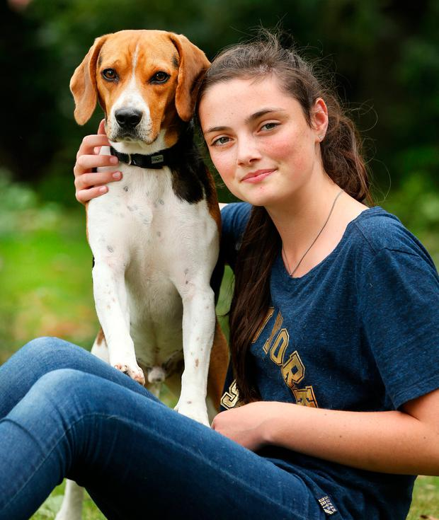 Isabel Kidd (12) with Potter Photo: Gerry Mooney