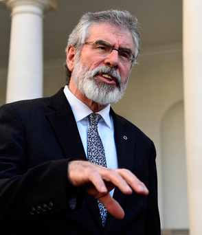 Sinn Fein president Gerry Adams. Photo: Reuters