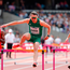 Thomas Barr of Ireland competes in the Men's 400m Hurdles during day three