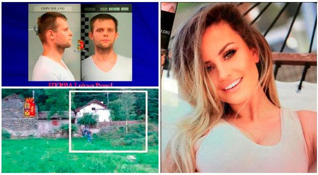 Chloe Ayling (right) claims she was held by Lukasz Pawel Herba (left top) at a rural house
