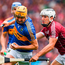 Seamus Callanan of Tipperary in action against Daithi Burke of Galway