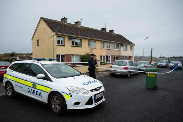 Gardai at one of the scenes at Marion Estate, Kilkee Co Clare where a man was fatally stabbed. Photograph by Eamon Ward