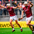 Joe Canning of Galway celebrates after scoring the winning point of the GAA Hurling All-Ireland Senior Championship Semi-Final match between Galway and Tipperary at Croke Park in Dublin. Photo: Sportsfile