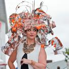 Winner Mary Kate O'Shea at Mad Hatters Day at the Galway Races. Photo: Ray Ryan