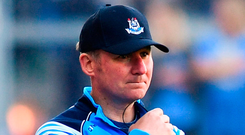 Jim Gavin is looking forward to his Dublin team taking on Tyrone, although he said on Saturday he hasn't seen the Ulster champions play since the pair's league clash. Photo: Sportsfile