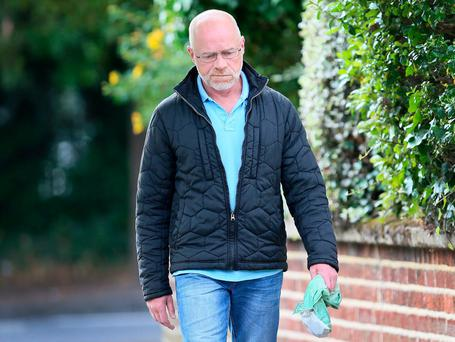 Convicted rapist Michael Murray pictured on Nutley Road, Mount Merrion.