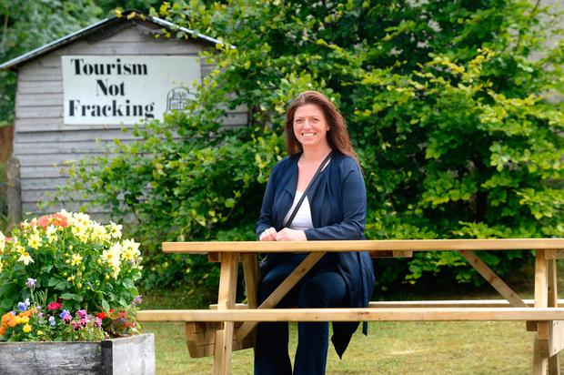 Carol McGowan in Kiltyclogher, Co Leitrim, where the locals have started a campaign to urge families to move to their community. Photo: Justin Farrelly