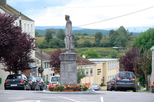 A statue of Seán Mac Diarmada in the town. Photo: Justin Farrelly