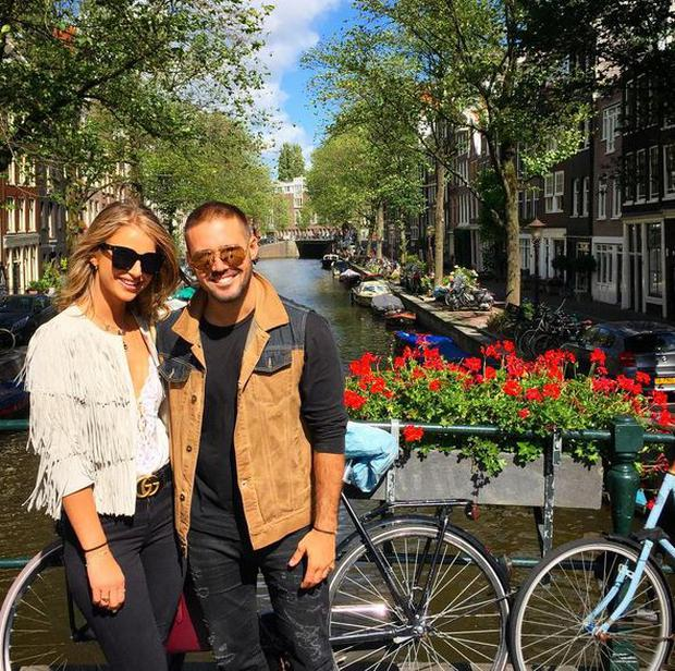 Vogue and Spencer in Amsterdam. PIC: Vogue Williams Instagram