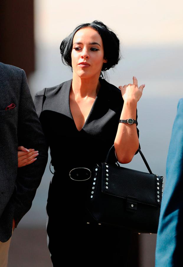 Stephanie Davis leaving Liverpool Magistrates' Court. Photo: Peter Byrne/PA Wire