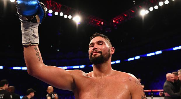 Tony Bellew celebrates an 11th round TKO victory over David Haye after their Heavyweight contest at The O2 Arena on March 4, 2017 in London, England. (Photo by Dan Mullan/Getty Images)