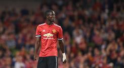 Eric Bailly of Manchester United during the International Champions Cup match between Manchester United and Sampdoria at the Aviva Stadium in Dublin. (Photo By David Fitzgerald/Sportsfile via Getty Images)