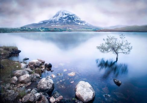 'Placid' by Mark English. It features Mount Errigal and was taken in Donegal.