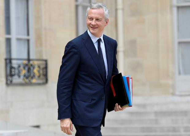 French Finance Minister Bruno Le Maire. Photo: AFP/Getty Images