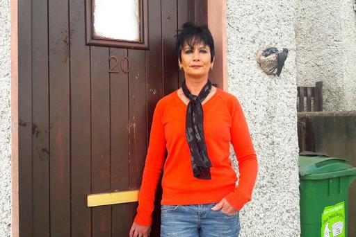 Julie Counihan outside her home in Island View, Kilrush.