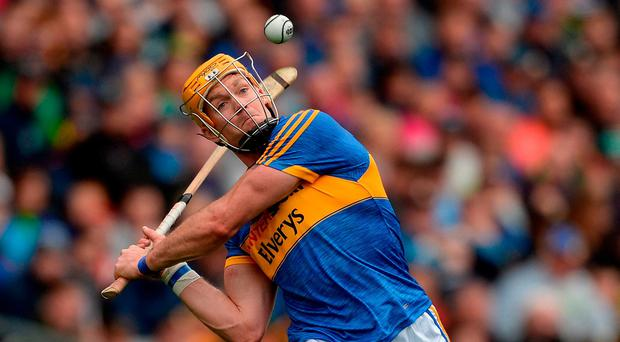 Pádraic Maher of Tipperary during the GAA Hurling All-Ireland Senior Championship Semi-Final match between Galway and Tipperary at Croke Park in Dublin. Photo by Piaras Ó Mídheach/Sportsfile