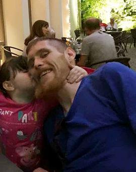 Conan Kelly was working in Germany – away from three-year-old daughter Sophie when he was diagnosed