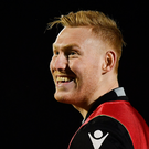 Rory Scholes of Edinburgh during the Guinness PRO12 Round 13 match between Edinburgh and Munster at Myreside in Edinburgh, Scotland. Photo by Ramsey Cardy/Sportsfile