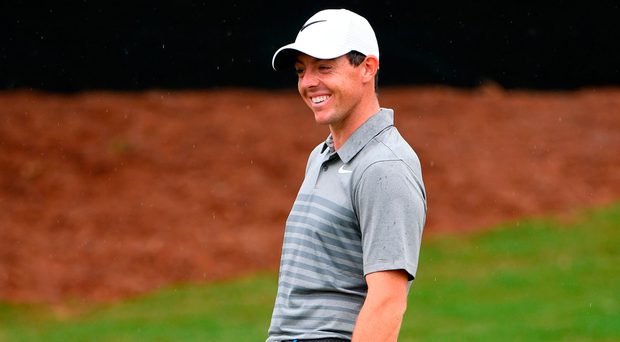 Rory McIlroy during a practice round at Quail Hollow Photo: Ross Kinnaird/Getty Images