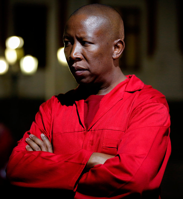 Julius Malema, leader of the opposition Economic Freedom Fighters party, after the result Photo: REUTERS/Sumaya Hisham