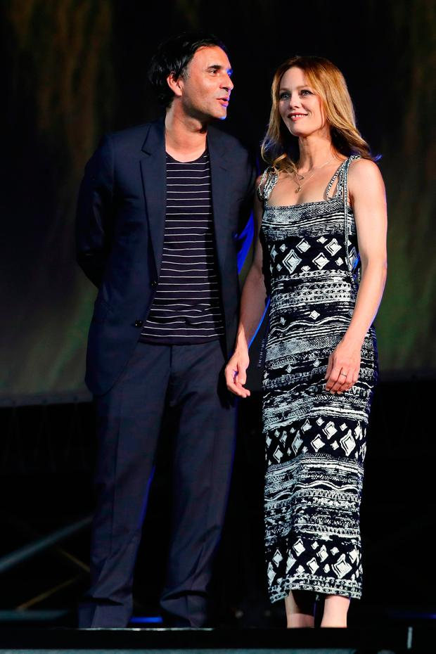 Vanessa Paradis and Samuel Benchetrit attend 'Chien' premiere during the 70th Locarno Film Festival on August 7, 2017 in Locarno, Switzerland. (Photo by Vittorio Zunino Celotto/Getty Images)