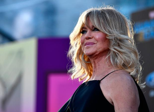Actress Goldie Hawn arrives at the premiere of Disney and Marvel's