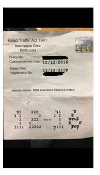 A driver tried to update their insurance disc (Picture: Garda Twitter)