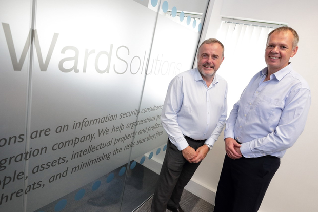 Pictured (L-R) are: Pat Larkin, CEO, Ward Solutions, and Paul Hogan, CTO, Ward Solutions