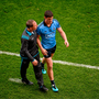Dublin manager Jim Gavin consoles Diarmuid Connolly after he received a red card
