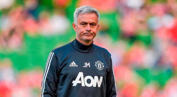 Manchester United manager José Mourinho. Photo by David Fitzgerald/Sportsfile