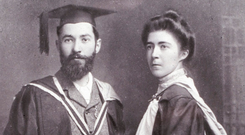 Hanna Sheehy Skeffington with her husband Francis on their wedding day