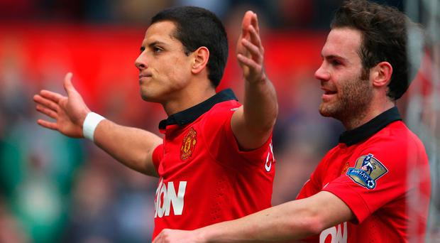 Javier Hernandez will return to Old Trafford in West Ham colours. Photo: Getty