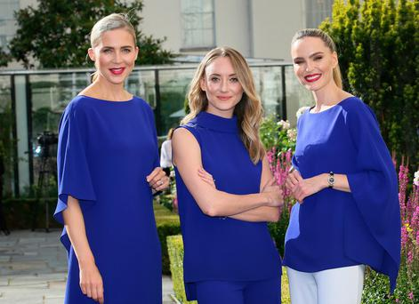 Actor Pandora McCormick with Sarah McGovern and Sarah Morrissey at the launch of the Longines Irish Champions Weekend 2017 in the Merrion Hotel. Photo: Frank McGrath