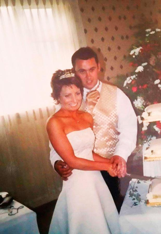 Jason and Mags Corbett on their wedding day