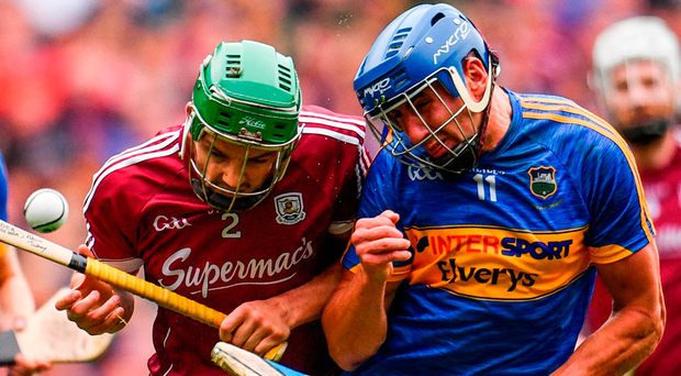 Tuohy clashes with Maher. Photo: Sportsfile