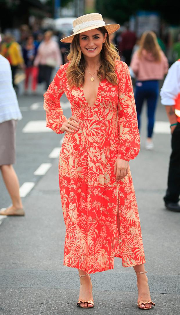Ladies day Judge Courtney Smith at Ladies Day at the RDS Horseshow in Ballsbridge. Picture: Gareth Chaney Collins