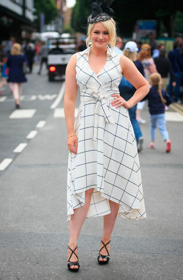 Ladies day Judge Lorna Weightman at Ladies Day at the RDS Horseshow in Ballsbridge. Picture: Gareth Chaney Collins