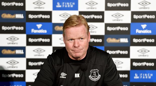 Ronald Koeman speaks to the press during the Everton FC press conference at USM Finch Farm on July 26, 2017 in Halewood, England. (Photo by Tony McArdle/Everton FC via Getty Images)
