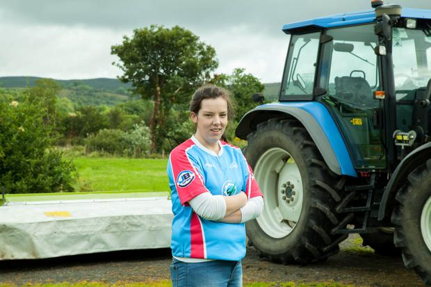 Kathleen Fallon getting ready for another day on the family farm in Drumkeeran, Co Leitrim. Photo: Conor Maguire