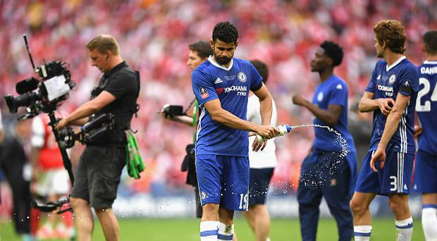 Diego Costa of Chelsea looks dejected after the Emirates FA Cup Final between Arsenal and Chelsea at Wembley Stadium on May 27, 2017 in London, England. (Photo by Darren Walsh/Chelsea FC via Getty Images)