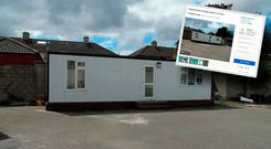 The Prefabricated unit for rent in Drimnagh. Picture: PJ Garvey via Daft.ie