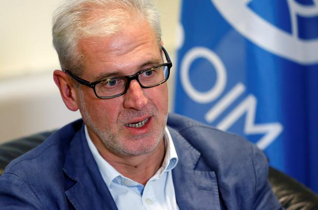 Chief of Mission of the International Organization for Migration (IOM) in Yemen Laurent de Boeck speaks during an interview with Reuters in Brussels, Belgium, August 10, 2017. REUTERS/Francois Lenoir