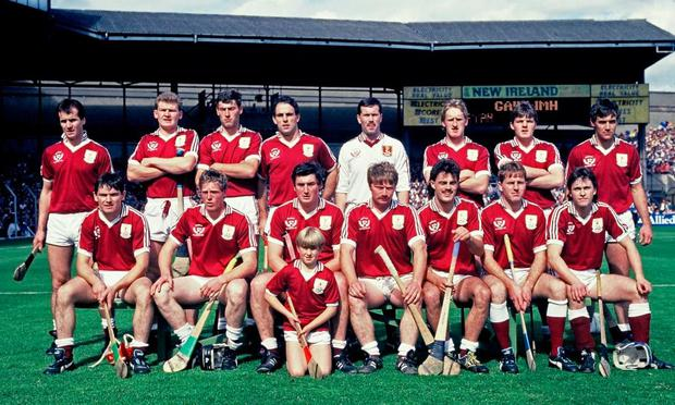 Tony Keady, third from right, in the Galway line-up before the 1988 All-Ireland SHC final against Tipperary. Photo: Ray McManus/SPORTSFILE