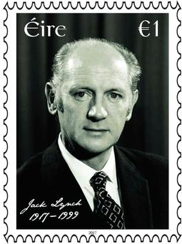 Jack Lynch on the new €1 stamp