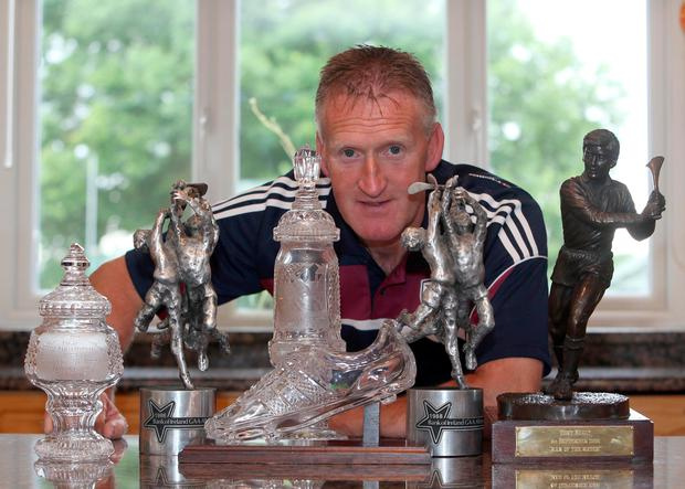 Tony Keady at home with some of his trophies. Picture: Hany Marzouk