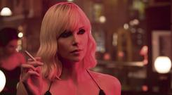Blonde bombshell: Charlize Theron in Atomic Blonde