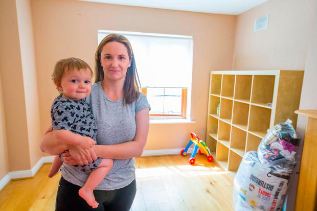 Jessica Martin with son Tristan (1), from Gorey, Co Wexford. Photo: Patrick Browne