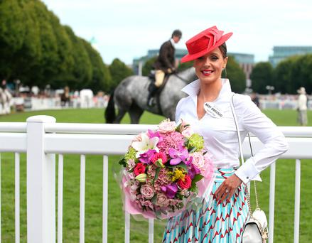 Right: Aoibheann McMonagle, winner of Best Dressed Lady Photo: Damien Eagers