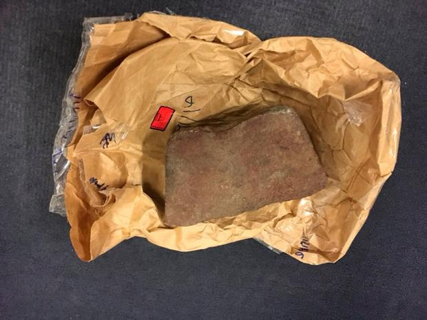 Evidence from the case – the brick kept on a nightstand table